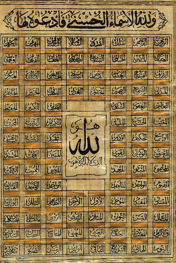 99 Names of Allah in the Quran