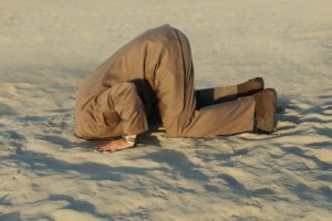 Muslim denial of Jesus' death is like burying one's head in the sand.